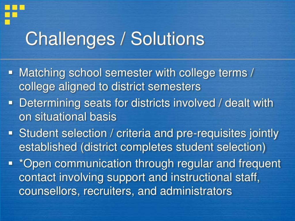 Challenges / Solutions