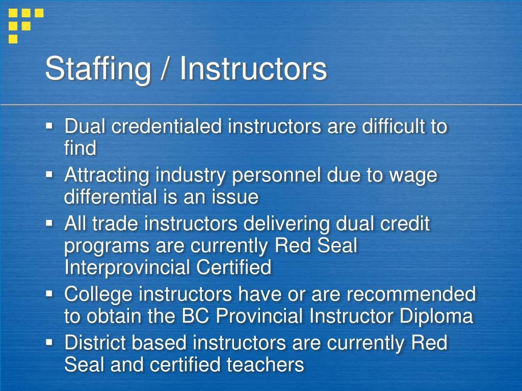 Staffing / Instructors