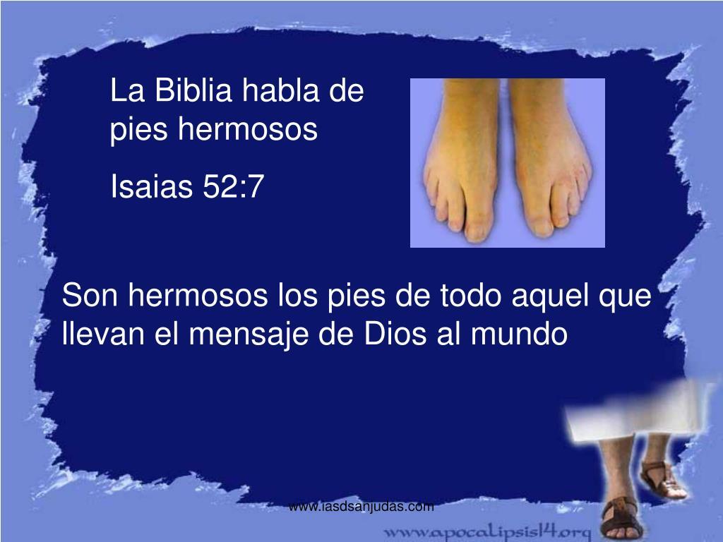 La Biblia habla de pies hermosos