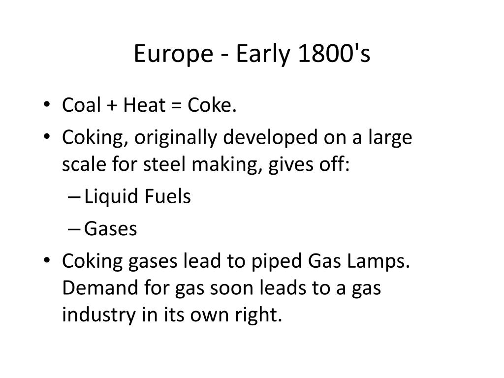 Europe - Early 1800's