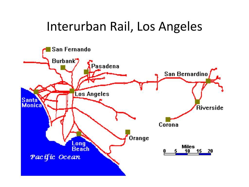 Interurban Rail, Los Angeles