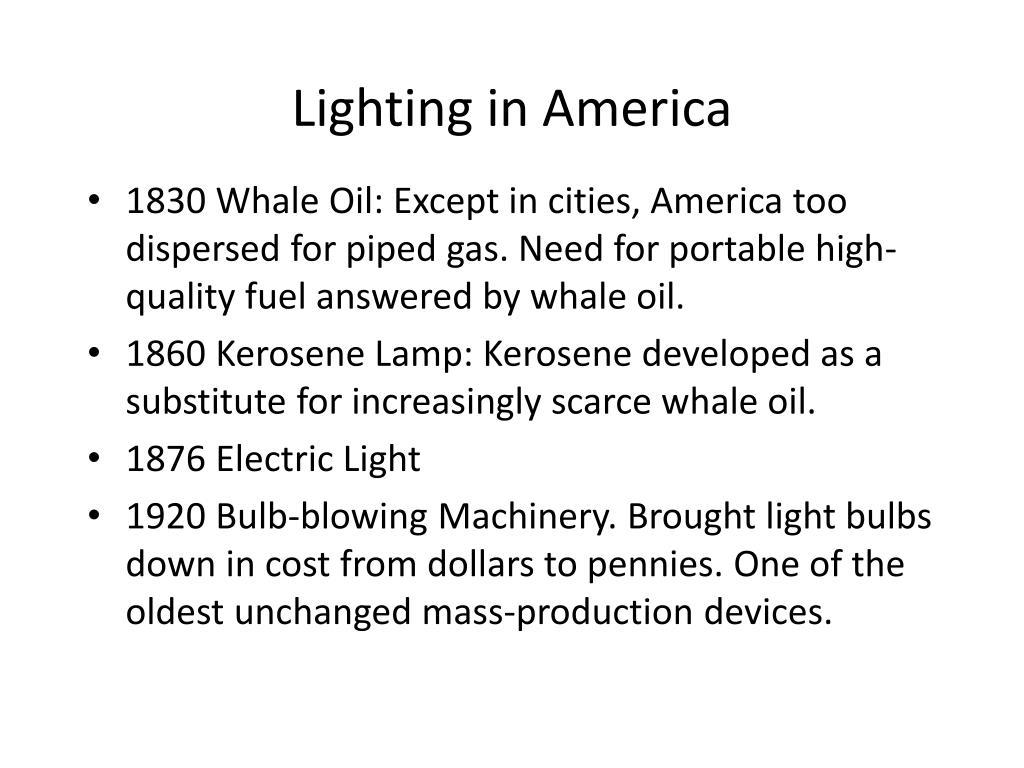 Lighting in America