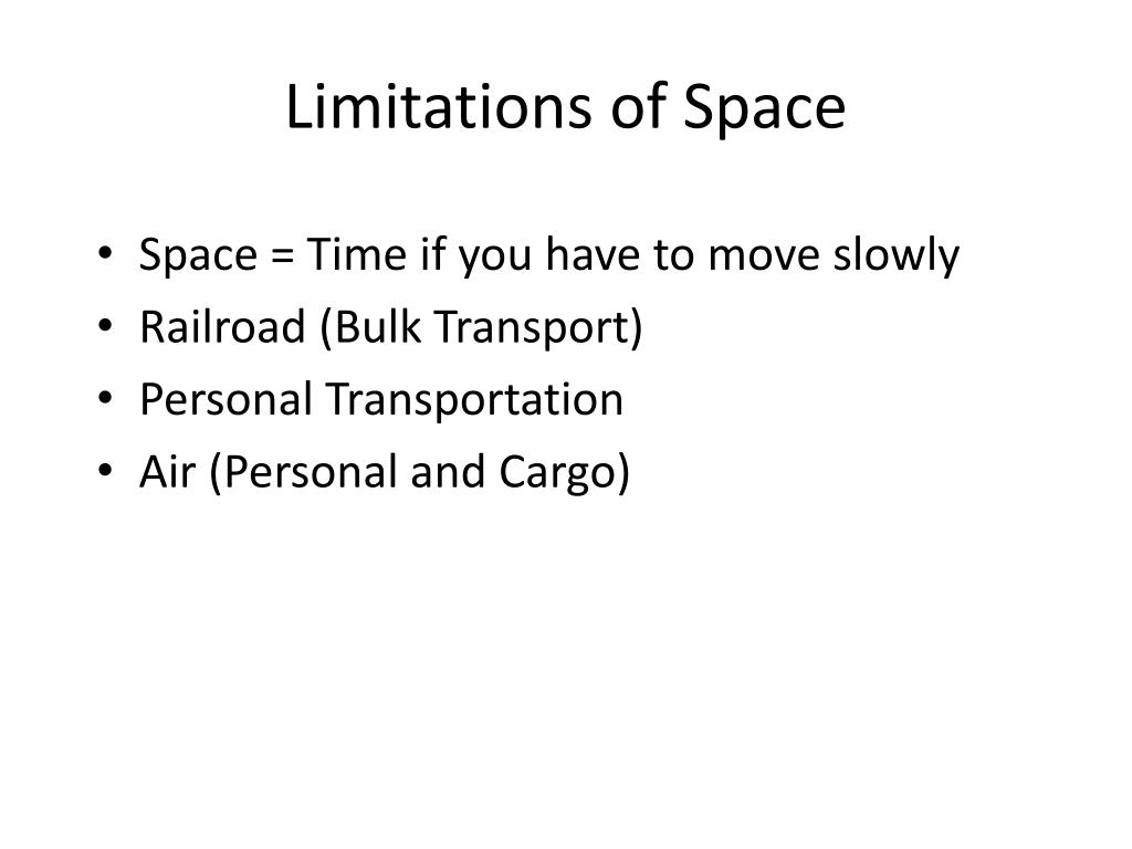 Limitations of Space