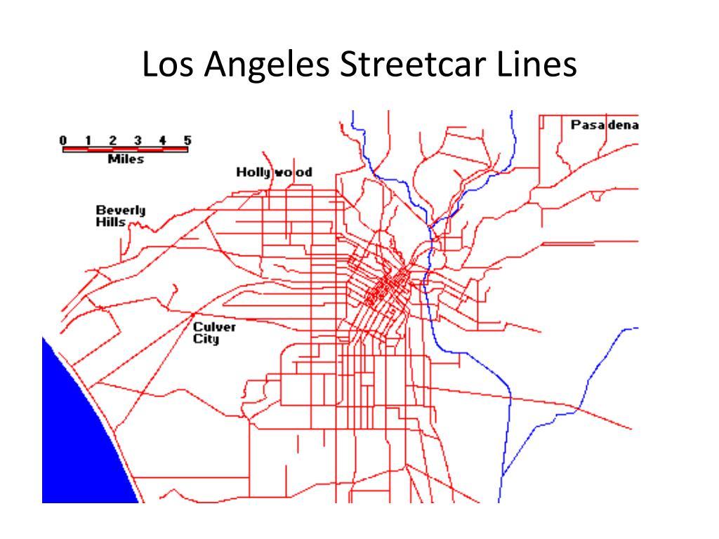 Los Angeles Streetcar Lines