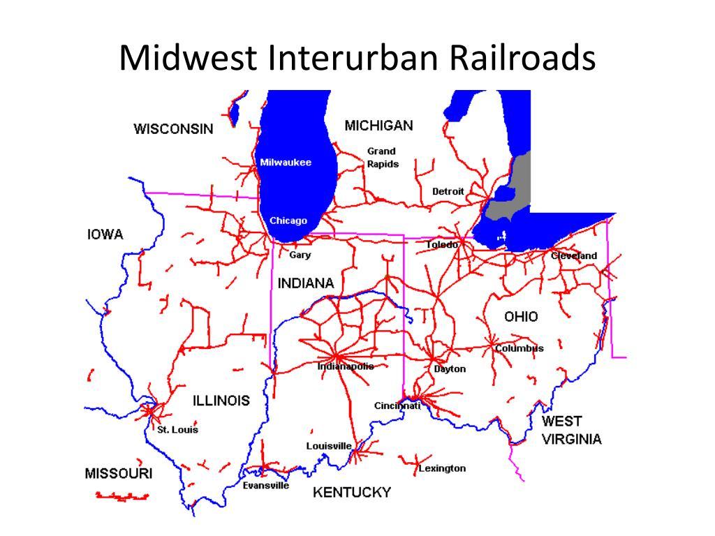 Midwest Interurban Railroads