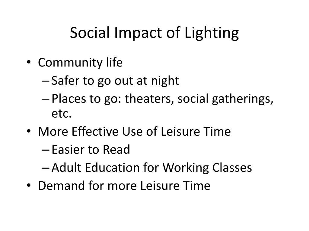 Social Impact of Lighting