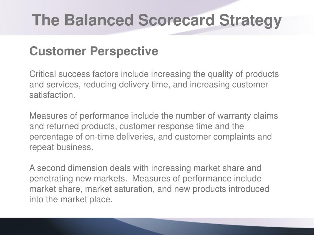 The Balanced Scorecard Strategy