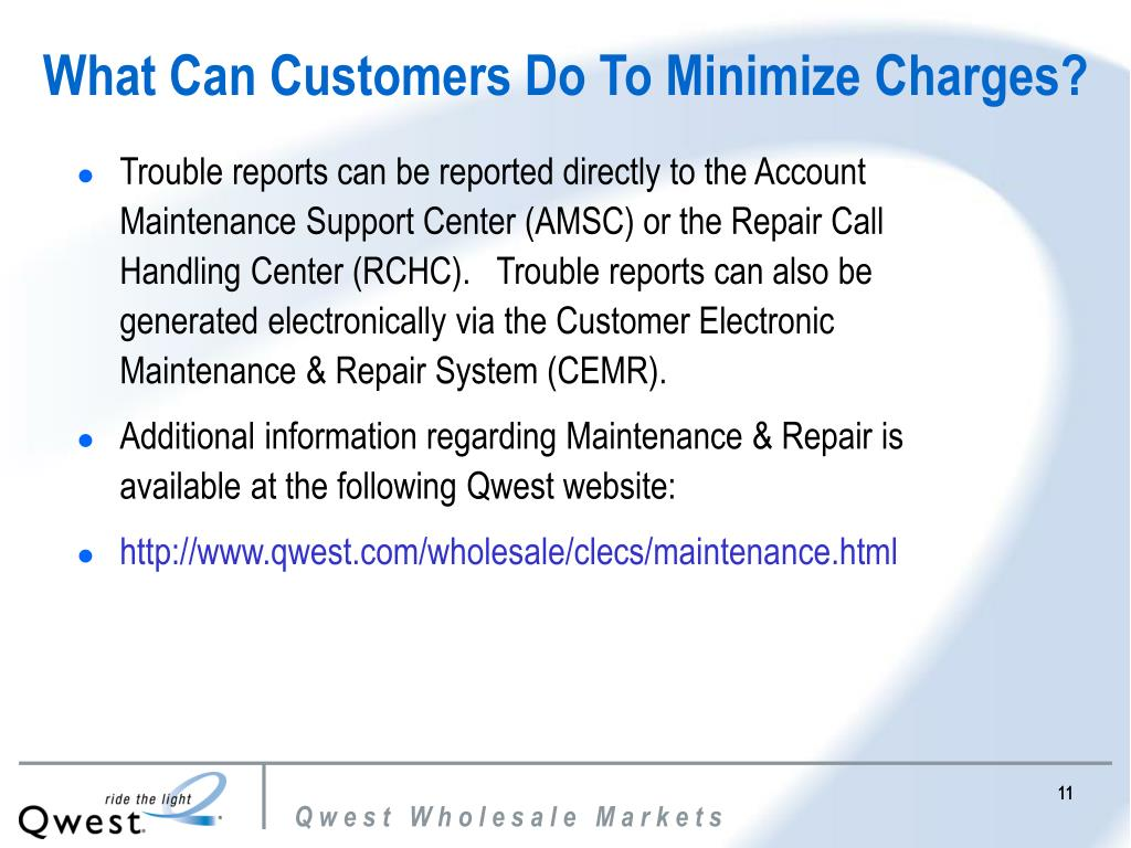 What Can Customers Do To Minimize Charges?