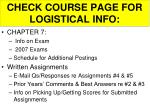 check course page for logistical info