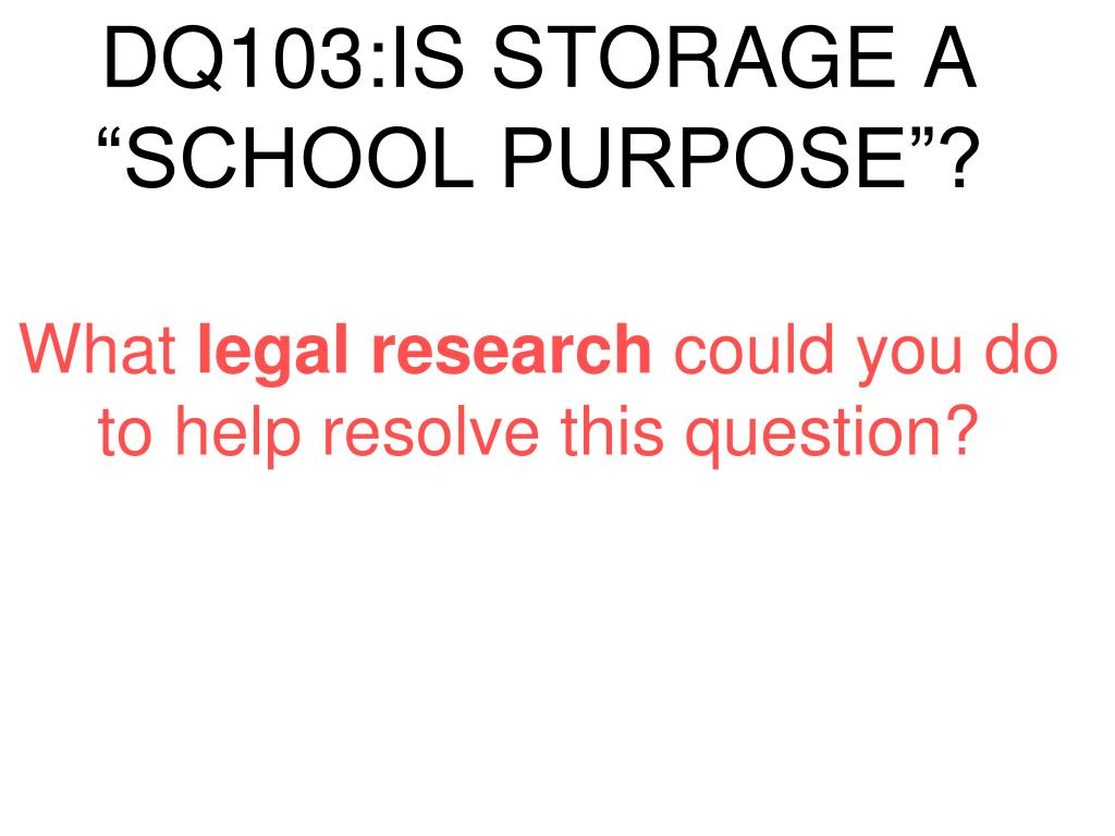 DQ103:IS STORAGE A