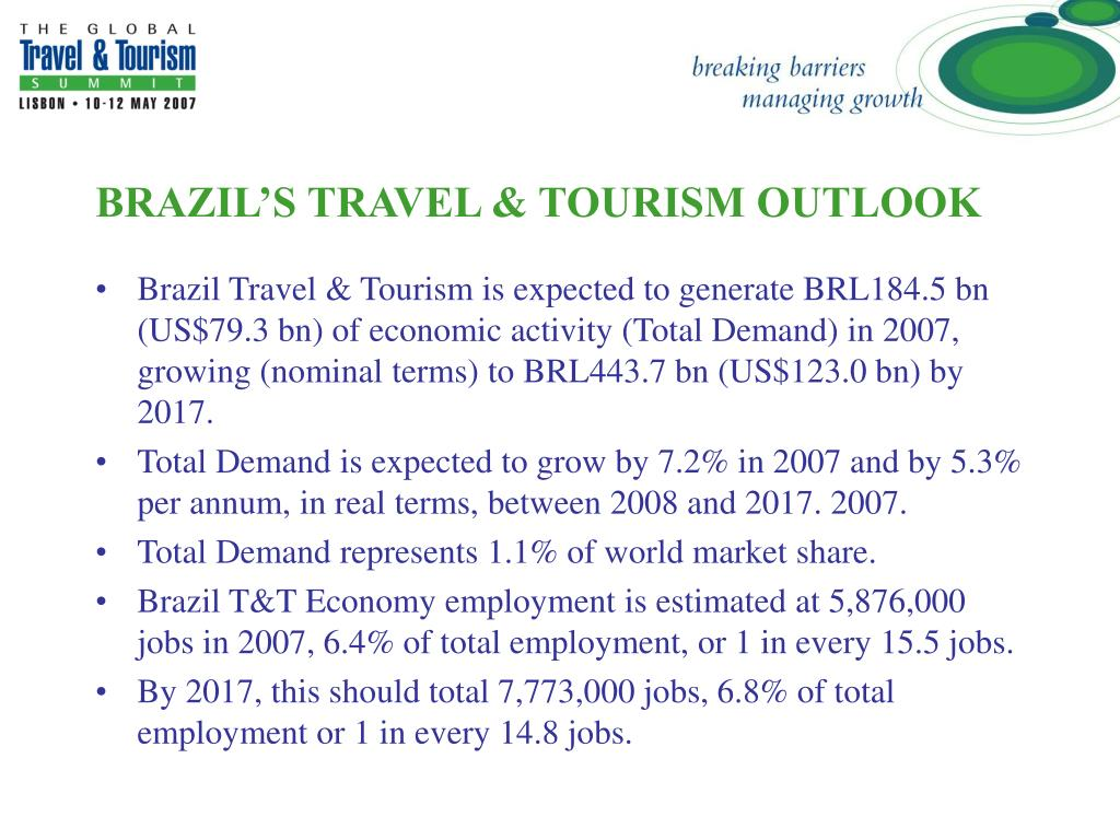 BRAZIL'S TRAVEL & TOURISM OUTLOOK
