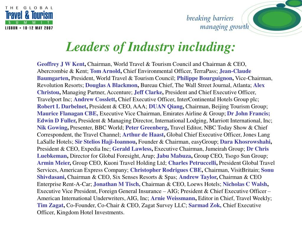 Leaders of Industry including: