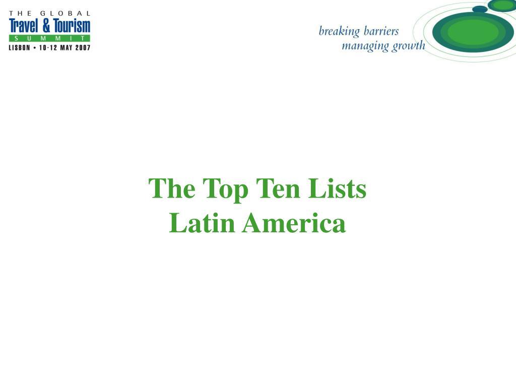 The Top Ten Lists