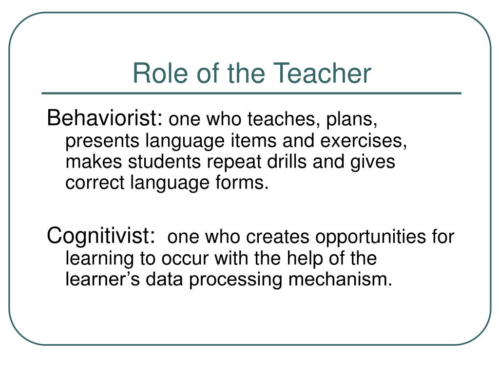 role of teacher An experienced teacher who earns a master's degree in educational administration and a principal license can qualify for an administrative role as an assistant principal or principal from there, a principal may advance to the position of superintendent and lead an entire school district.