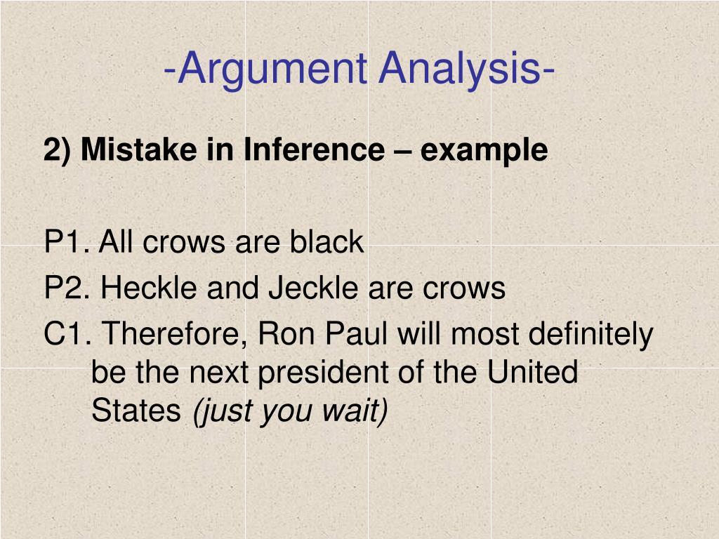 -Argument Analysis-