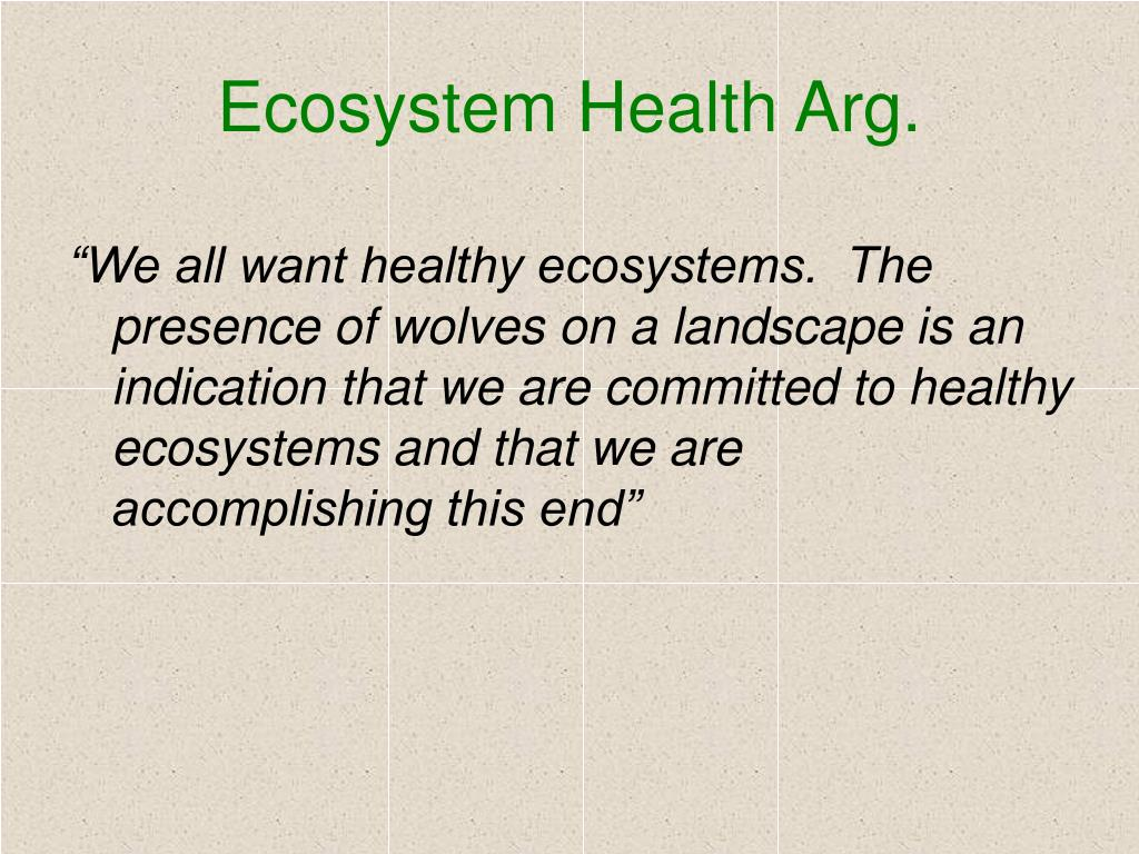 Ecosystem Health Arg.