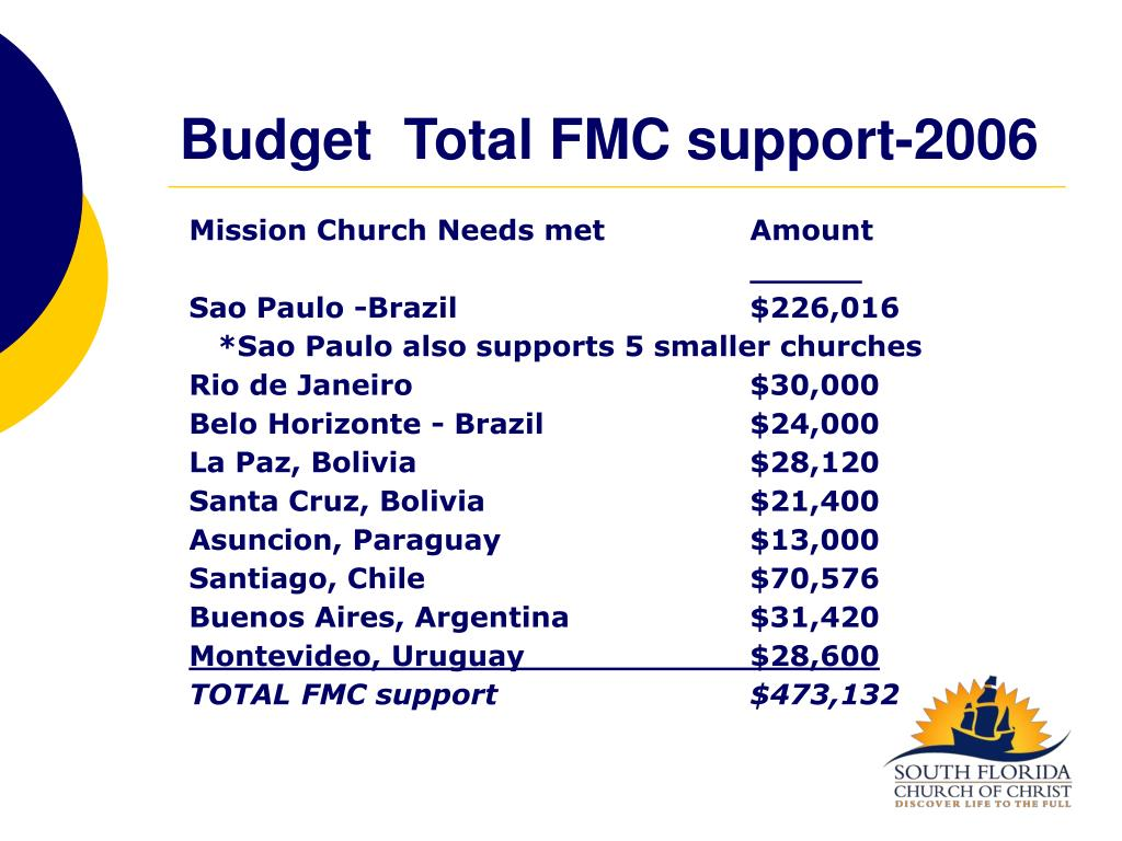 BudgetTotal FMC support-2006