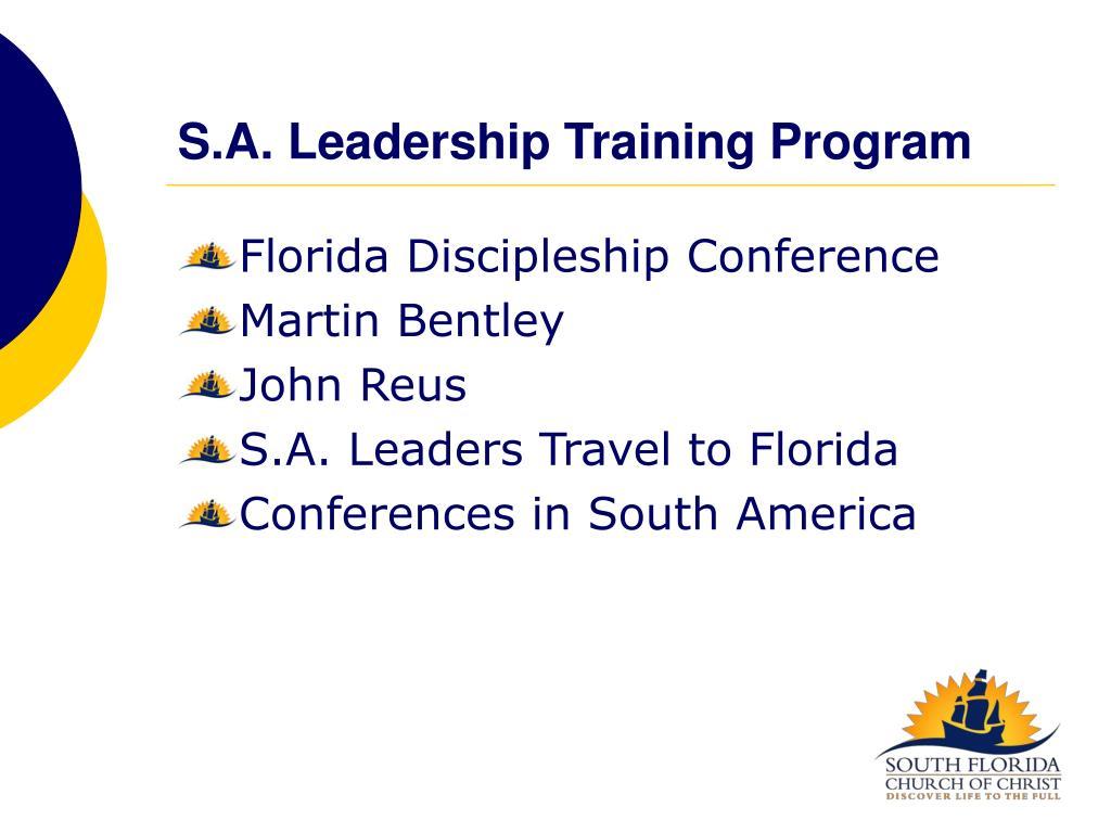 S.A. Leadership Training Program