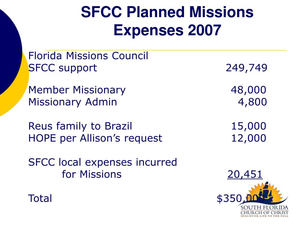 SFCC Planned Missions