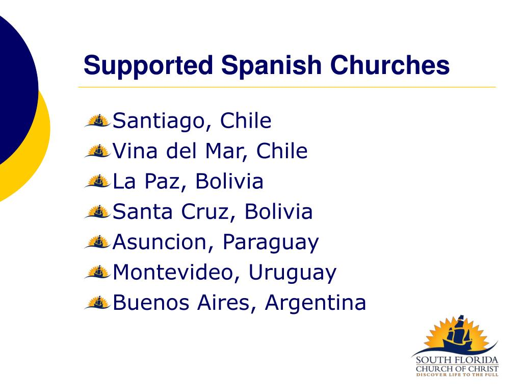 Supported Spanish Churches