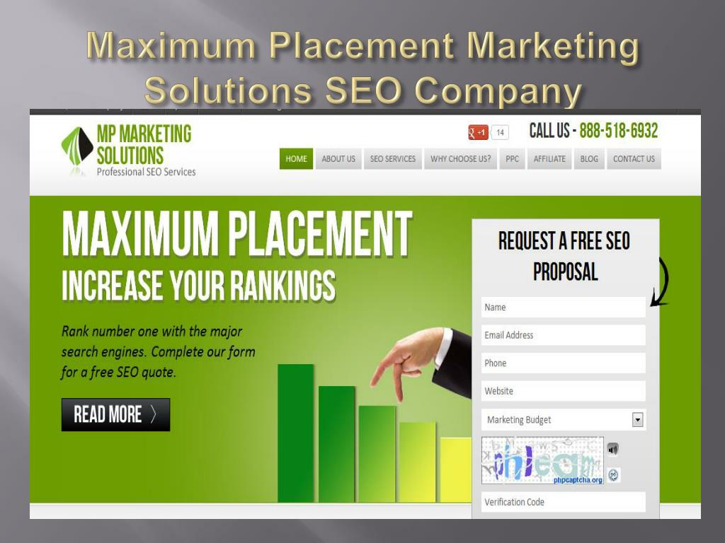 Maximum Placement Marketing Solutions SEO Company