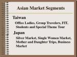 asian market segments