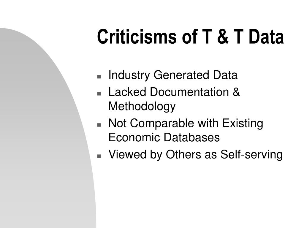 Industry Generated Data