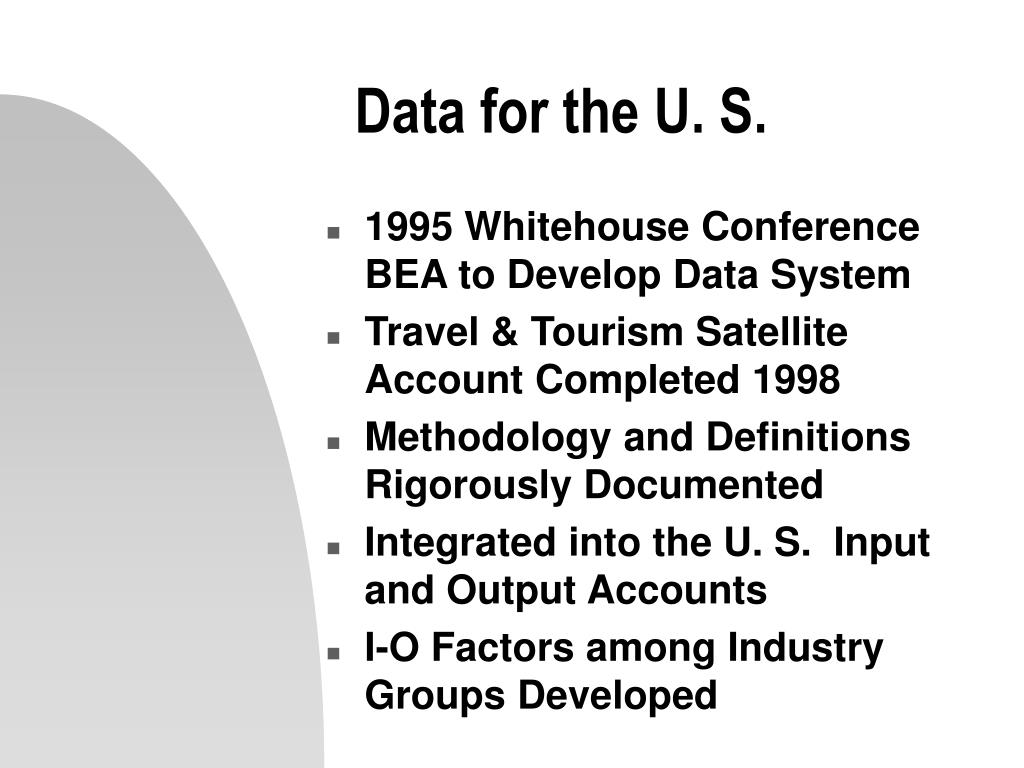Data for the U. S.