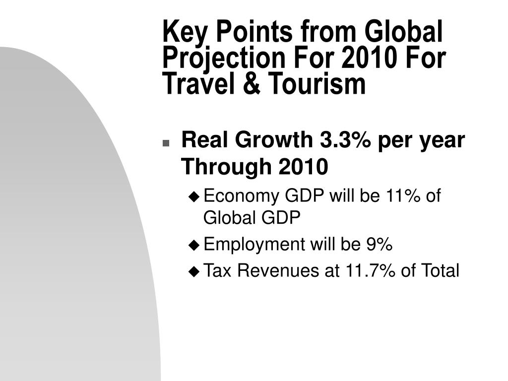 Key Points from Global Projection For 2010 For Travel & Tourism