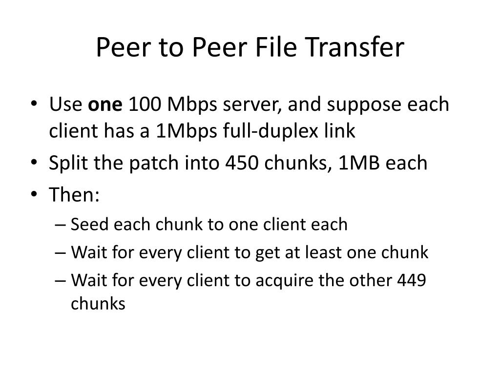 Peer to Peer File Transfer