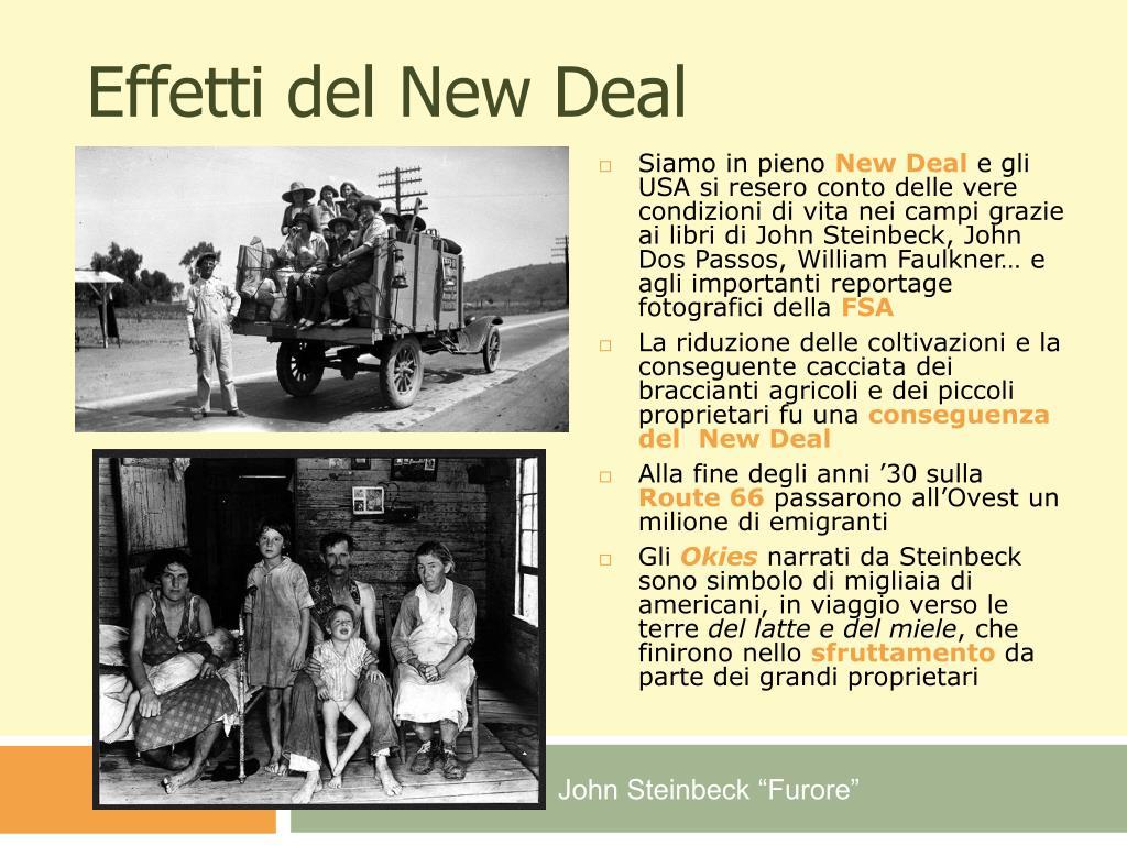 Effetti del New Deal