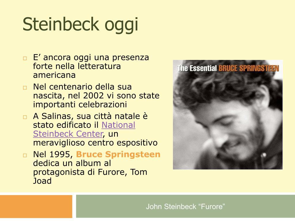 Steinbeck oggi