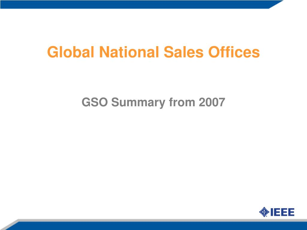 Global National Sales Offices