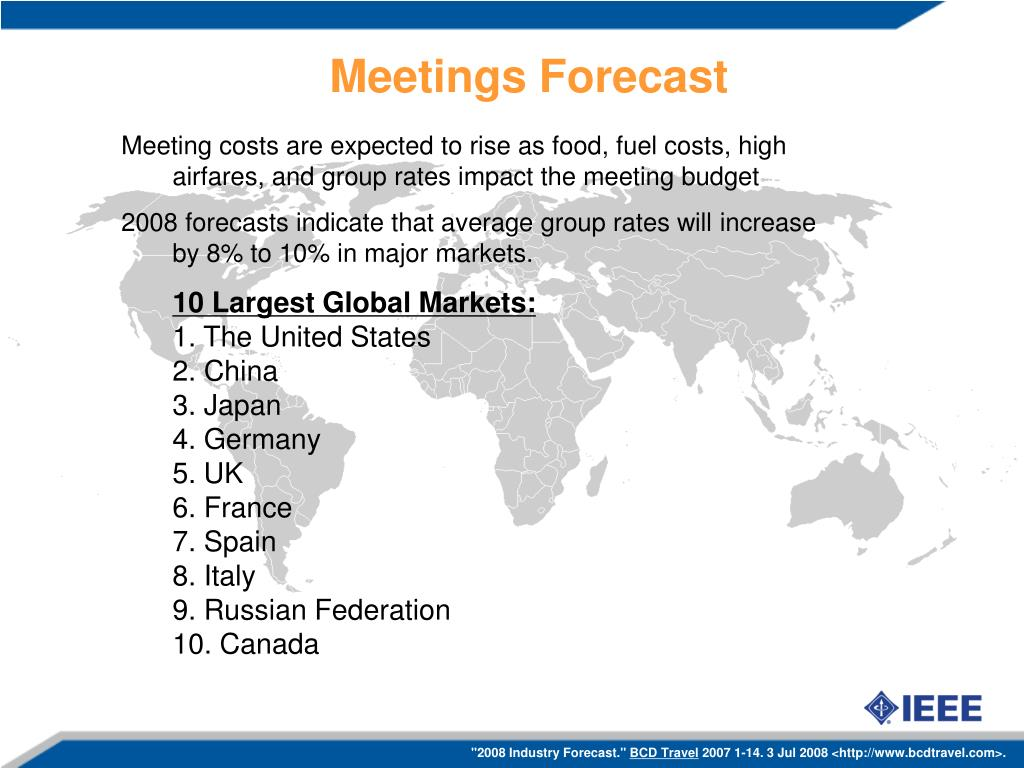 Meetings Forecast