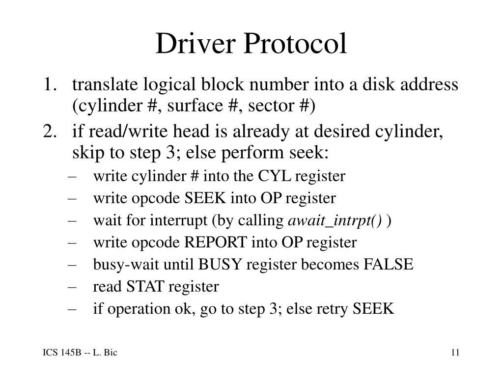 Driver Protocol