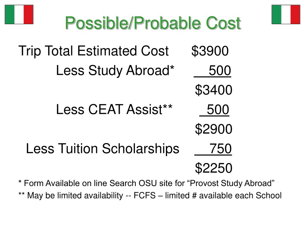 Possible/Probable Cost