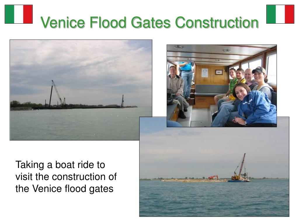 Venice Flood Gates Construction