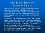 link budget example downlink budget