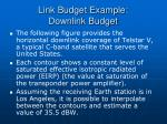 link budget example downlink budget29