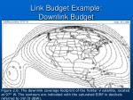 link budget example downlink budget30