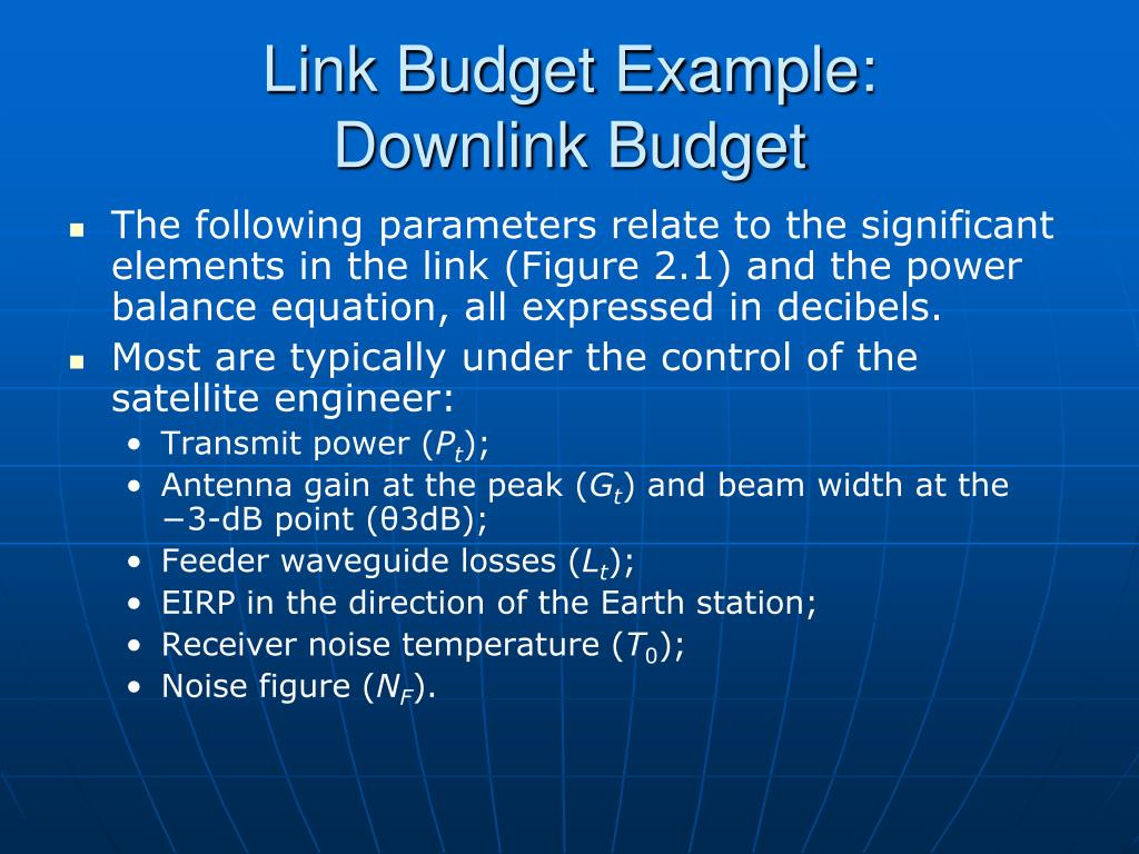 Link Budget Example: