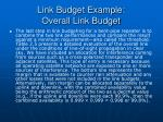 link budget example overall link budget