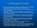 link budget example25