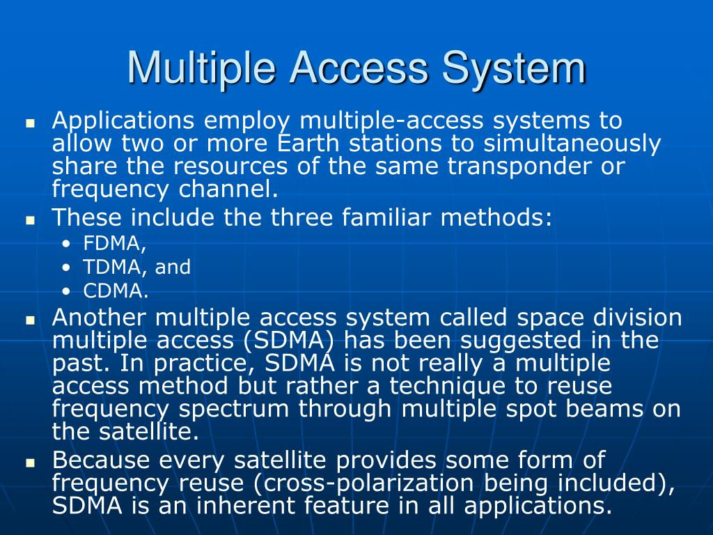 Multiple Access System