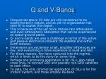 q and v bands