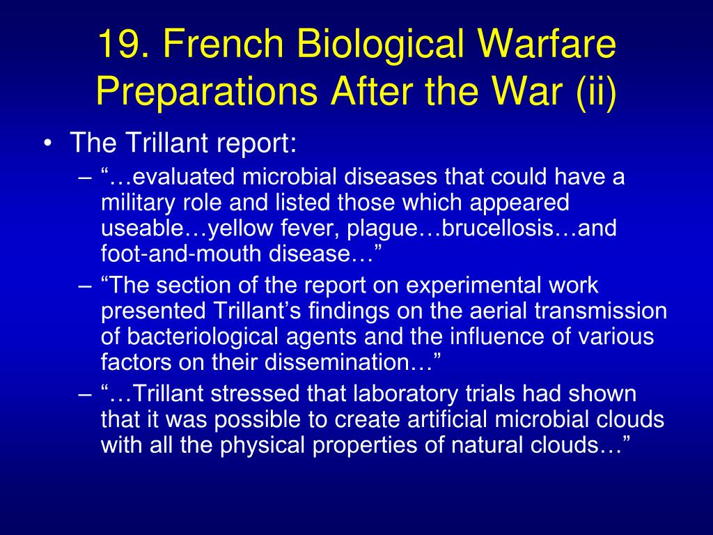 19. French Biological Warfare Preparations After the War (ii)