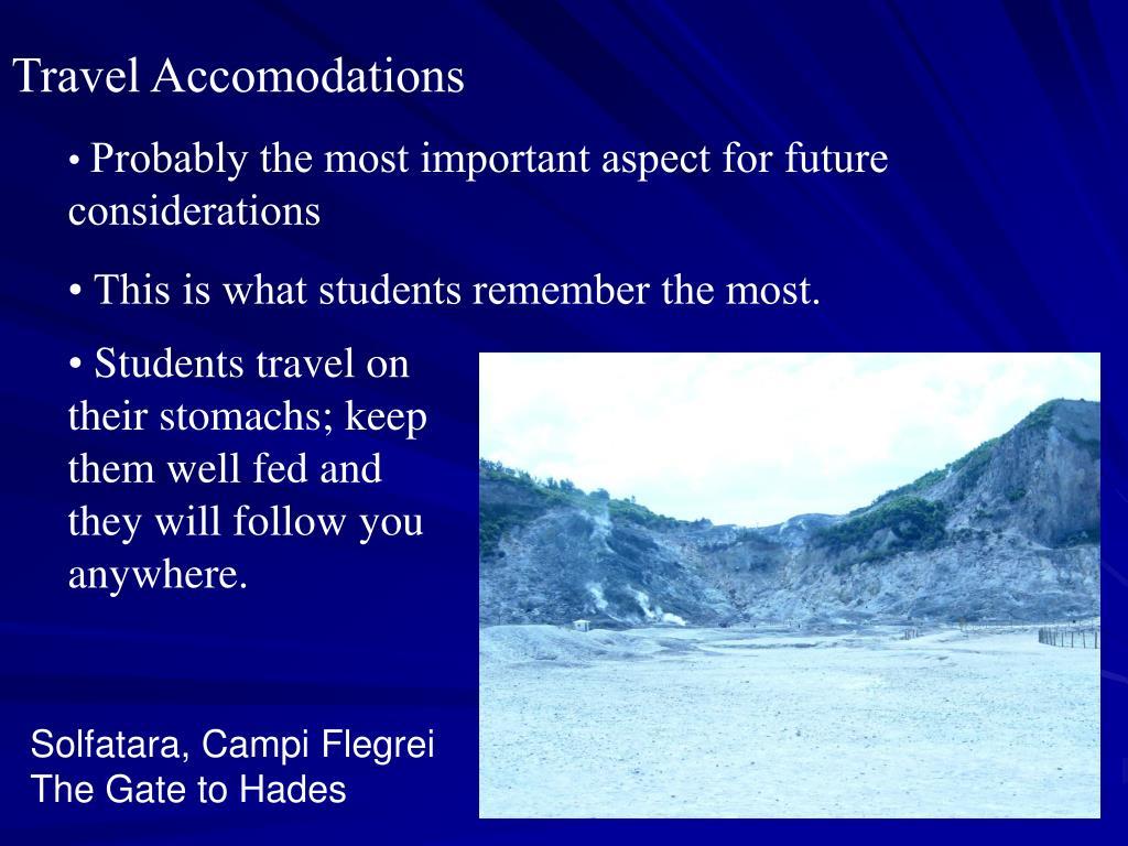 Travel Accomodations