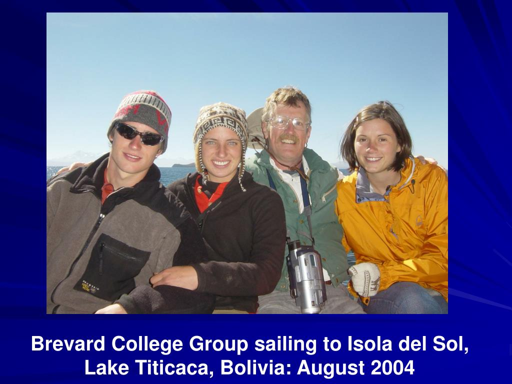 Brevard College Group sailing to Isola del Sol, Lake Titicaca, Bolivia: August 2004