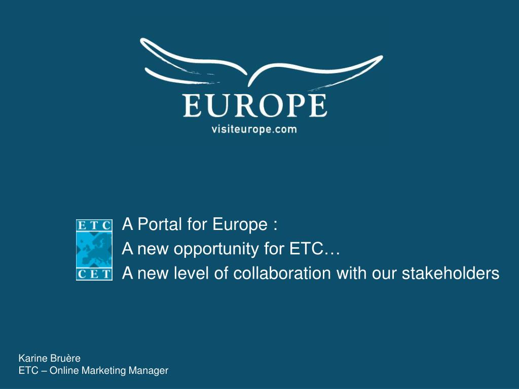A Portal for Europe :