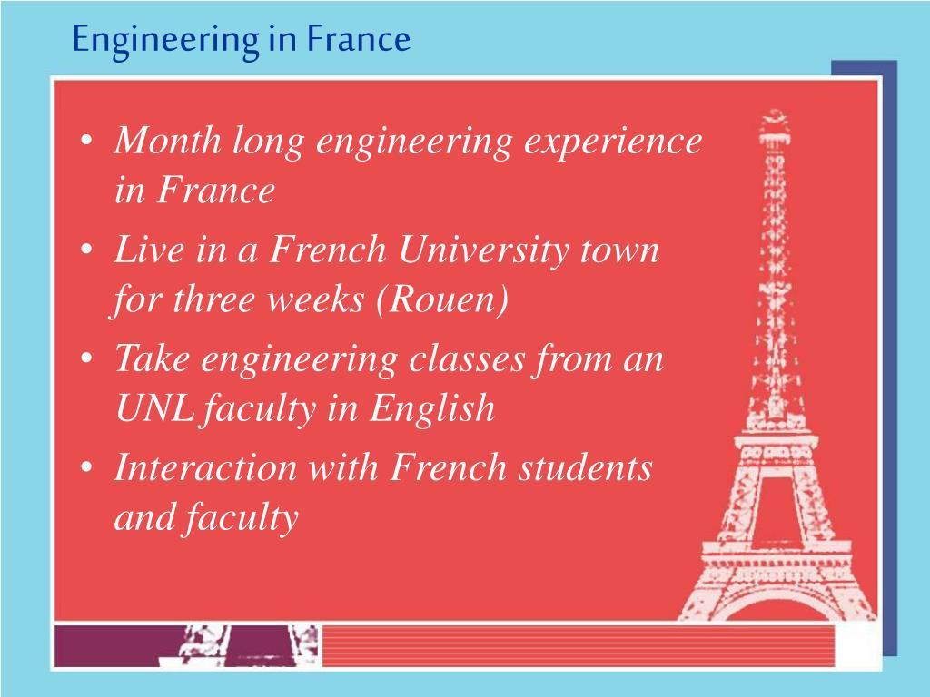 Engineering in France